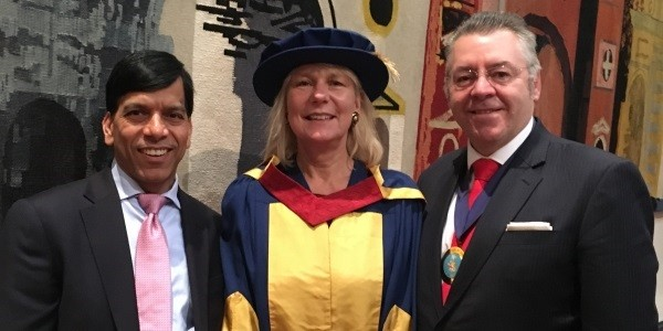 Prem at the Coventry University Winter 2016 graduation at Guildhall
