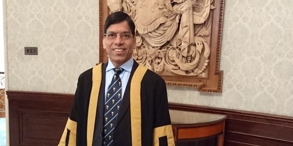 Prem being admitted as a Liveryman to the Worshipful Company of Plumbers