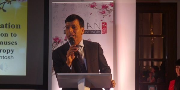 Prem speaking at the Mulan Foundation Awards 2015