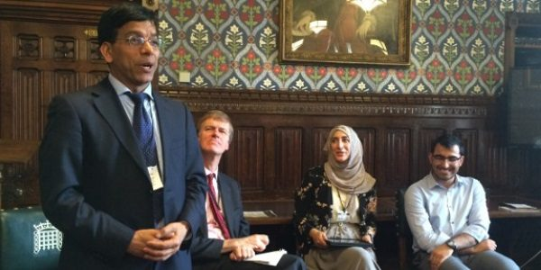 Prem speaking at the Three Faiths Forum (3FF) Parliamentors programme 2015-16 launch at the House of Commons