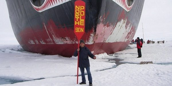 Prem at the Geographic North Pole