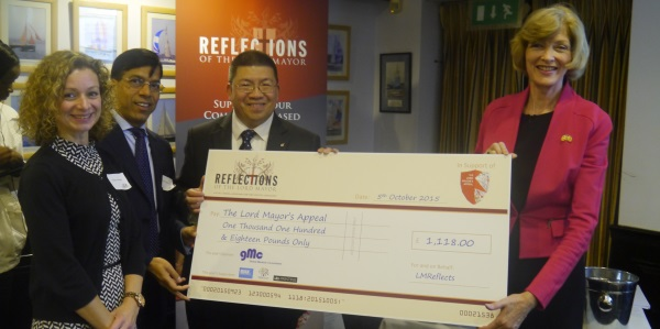 Lord mayor reflections group cheque