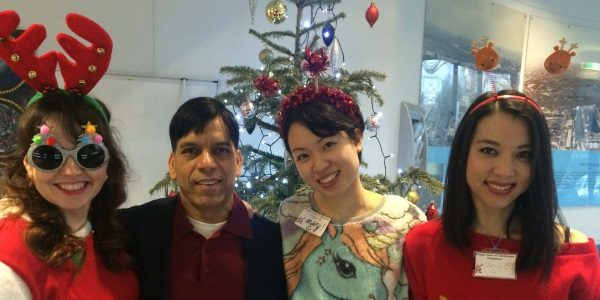 Prem helping out at the Southwark People Care Association Christmas Dinner for elderly and Isolated residents
