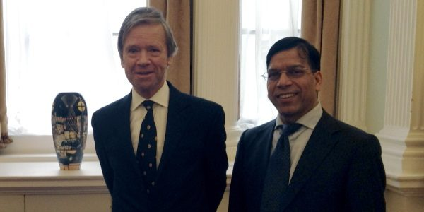 Prem following a meeting with The Lord Mountevans, Lord Mayor of London, at Mansion House