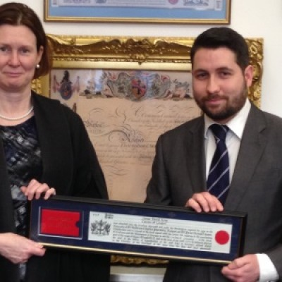 James King becomes Freeman of the City