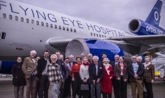 Observing Orbis's new flying eye hospital