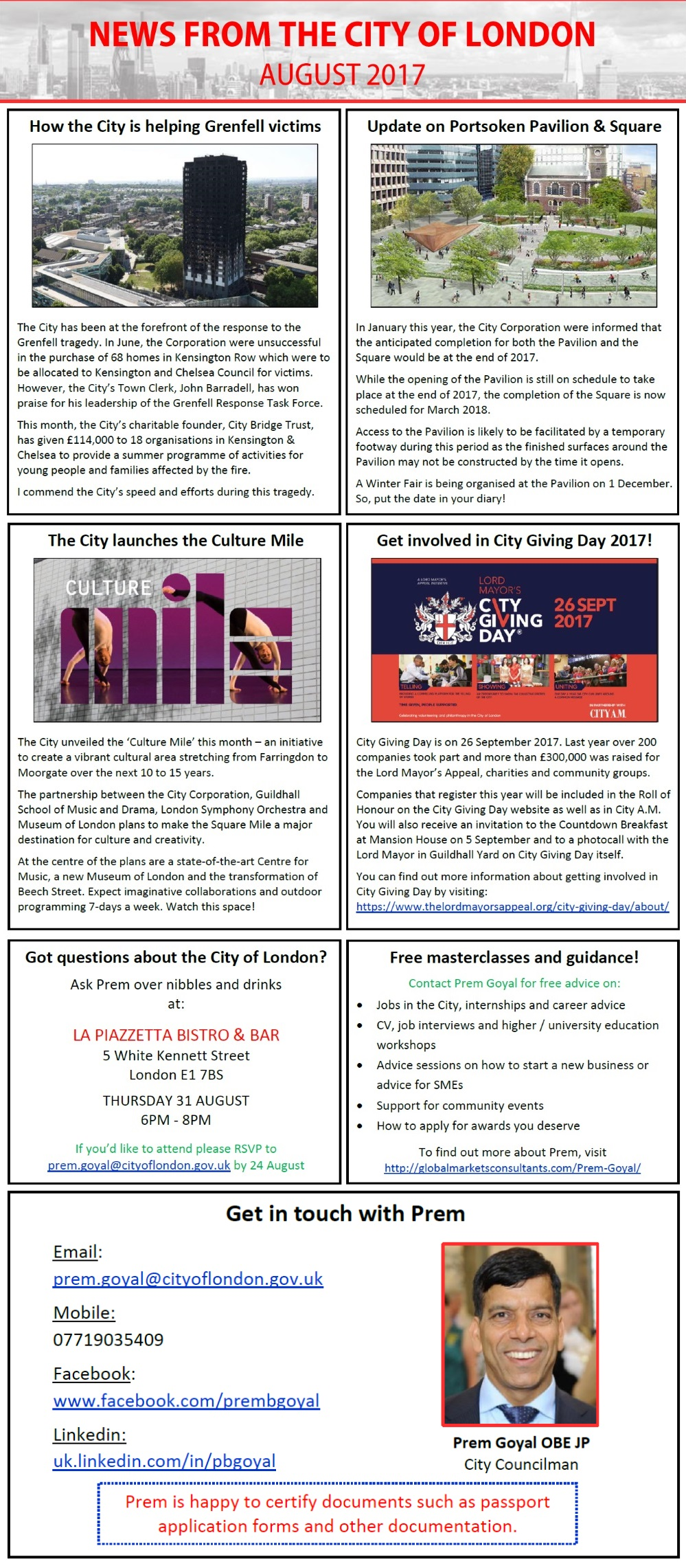 City of London News - August 2017
