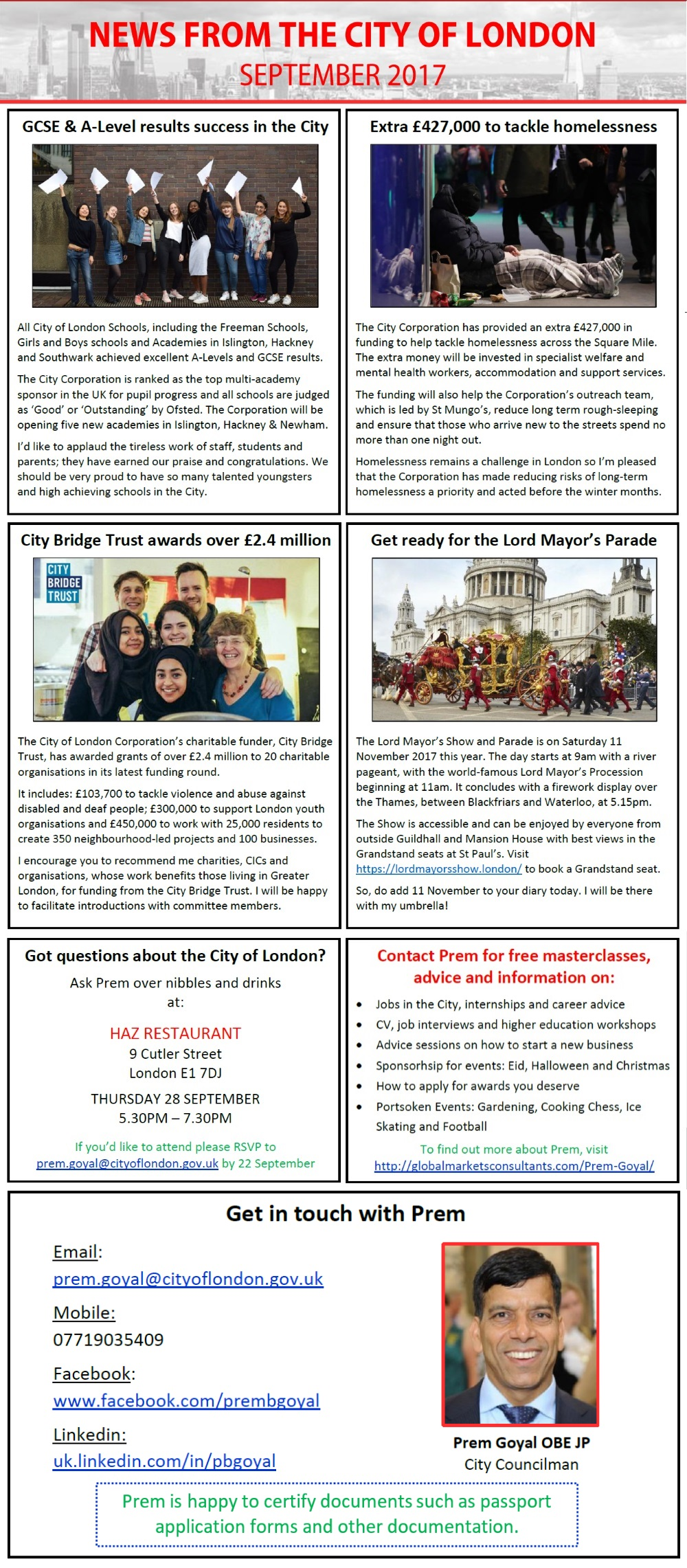 City of London News - September 2017